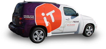 car wrap advertising for integraTECHS