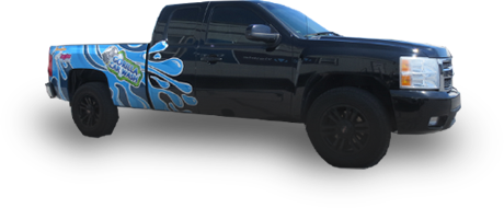 blue truck graphic vinyl wrap