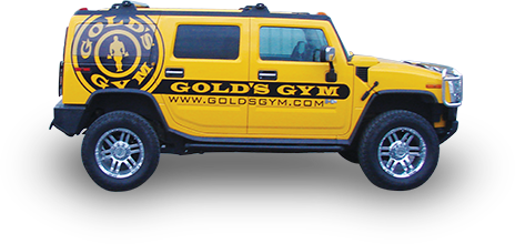 Gold's Gym vehicle advertising wrap