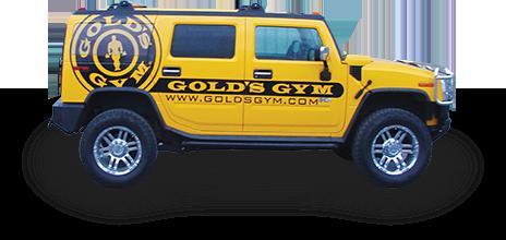 Gold's Gym vehicle advertising wrap