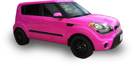 color change vinyl wraps for cars - pink