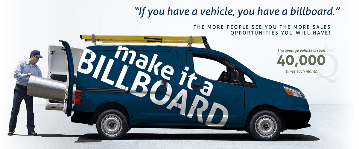 advertise like a billboard with a vehicle vinyl wrap