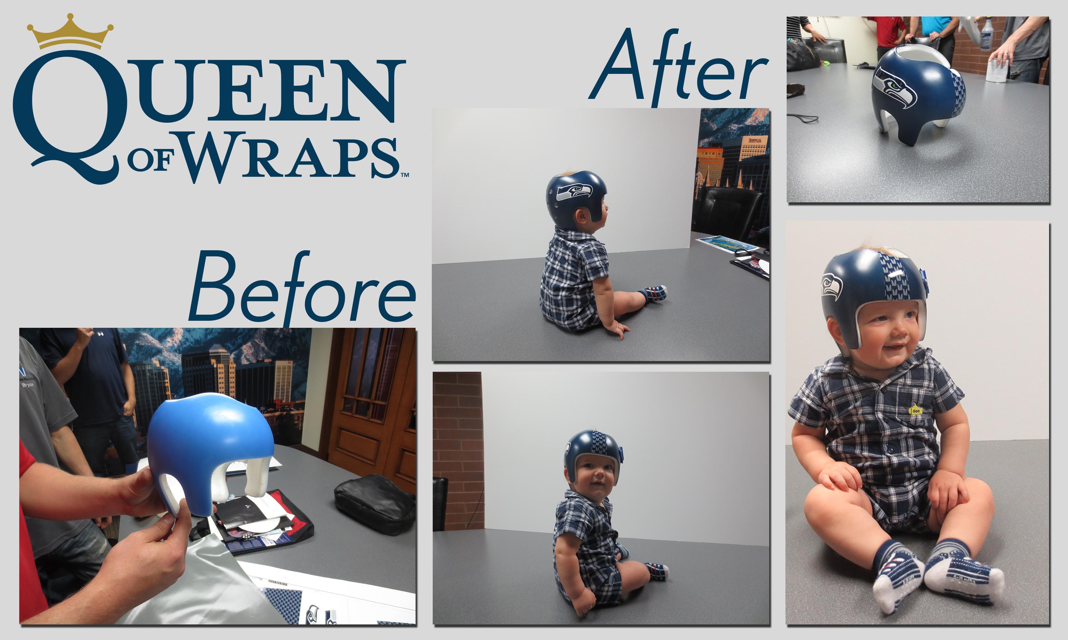 Baby helmet wrap