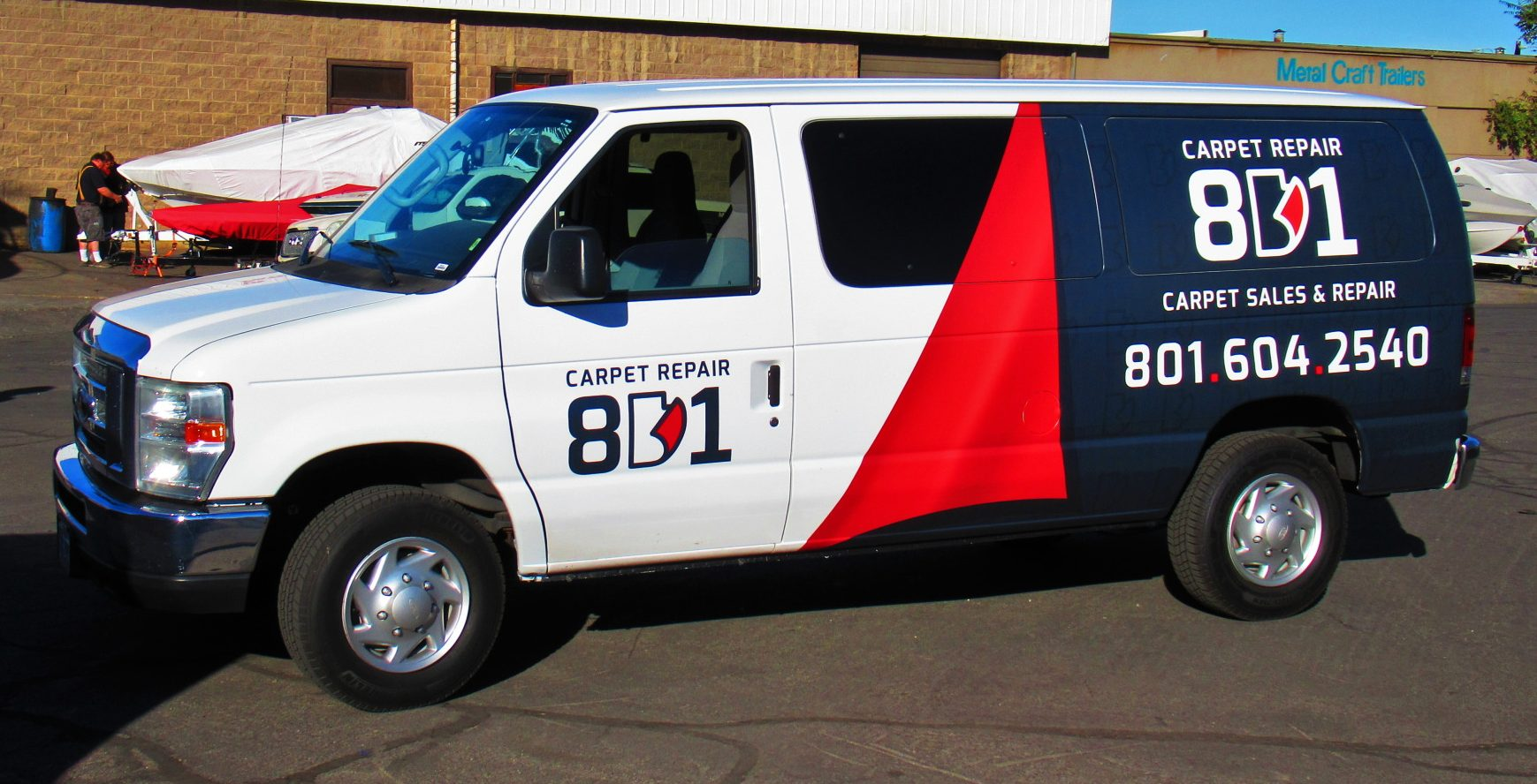 Van wrapped for Carpet Repair 801